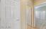 Bedroom Hallway with Linen Closet