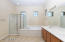 Master Bathroom with Separate Walk-in Shower & Tub Plus Dual Sinks