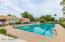 Five large swimming pools