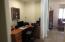 Built-in work station/desk.