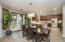 Spacious open concept kitchen and dining area