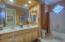 Bathroom 2 offers dual sinks