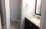 Bathroom sink also have granite counter tops