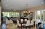 large family room with eat in dining