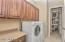 Upper and Lower Cabinets for Storage AND Walk-In Pantry
