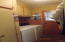 Laundry room Washer and Gas Dryer stay
