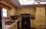 Cheery kitchen GAS Range/Oven Refrigerator stays....