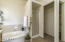 SPACIOUS MASTER BATH WITH SOAK TUB, PRIVATE TOILET, WALK-IN SHOWER
