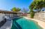 This fenced in pool area is perfect for those Arizona summers