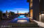 with negative edge pool/spa & multiple water features