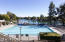 Heated lap pool with lake view at the Lakes Beach and Tennis Club.