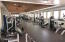 A full fitness center with cardio room and weight room along with locker rooms means no other gym membership needed!