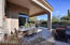 The covered patio dining area gives you an outdoor dining room for those perfect Arizona days.