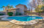 Large Lot with pool fence for pool safety. Separate patio for BBQ, Firepit, table & chairs or lounge chairs.