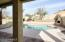 View of Pool and Kiva Fireplace from the Patio