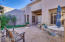Private enclosed Flagstone Patio with Water Fountain is a lovely features of the Front CourtYd ---along with the Casita!