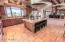 Huge Island Open Light and Bright Kitchen