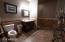 Mezzanine restroom with shower