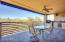 Tiled patio with roll-down sunscreen, Built-in Natural Gas BBQ grill, McDowell Mountain view!