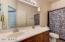 Hall bathroom with large vanity