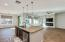 Kitchen Island w/ view of great room