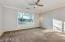 Master bedroom W/ Custom drop down lighting Fixtures