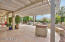 Your back patio offers plenty of space for outdoor dining table for enjoying the beautiful weather Arizona has to offer.