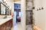 Custom designed walk-in shower in Master Retreat.