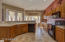 Abundant cabinet and counter space.