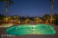 remodeled salt water heated pool with quartz finish