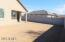 Long patio with great lot that can still fit a pool or large grassy area.