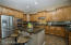 The large eat in Kitchen Island is a great space for entertaining.