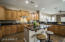 The large kitchen provides space for preparing any meal.