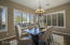 This formal Dinning Room is the perfect place to spend the Holidays and entertain. It opens to the
