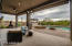Covered Patio with Roller Shades and Electronic Awning