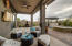 Covered Patio with Large Sun Protected Eating and Entertaining Areas