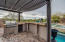 Pergola Covered BBQ Provides Shade for the Chef