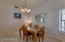 Large dining room provides room for entertaining
