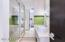 A touch of color for fun! Walk-in shower