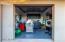 10x19 exterior storage room with 8' electric door