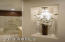 Lighted decorative niche in master bathroom