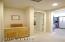 Master bedroom hallway area. 2 master closets, built-ins and den/office