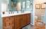 Master Bathroom Vanity with double sinks.