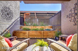 Beautiful patio with privacy fence