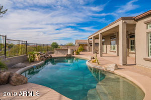 Private pool with baja step