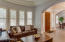 Plantation shutters throughout home