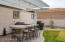enjoy your friends and family year round in this North facing yard. roof opens and closes