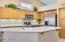Beautiful, open kitchen. Under counter led lighting.