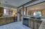 Kitchen with wine fridge