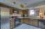 Kitchen, notice newer appliances